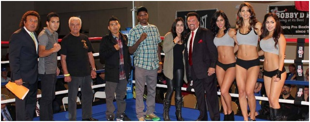 "Between the third and fourth bouts, their was a brief intermission during which time some celebrity boxers were introduced to include Amaris ""Diamond Girl"" Quintana, Maurice Hooker, Aaron Garcia and several others."