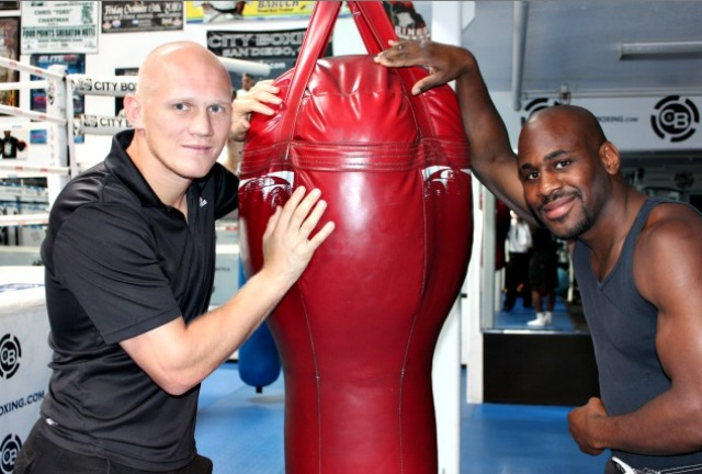 Two of Mark Dion's most famous warriors have to be light heavyweight Denis Grachev (l) and super welterweight Chris Chatman (r). Photo: Jim Wyatt