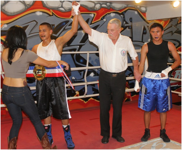 Bout #1, it was 15 year-old Anthony Lethan of the Soldiers of God Boxing Program, Fontana, CA (117.2 pounds) being awarded the split decision victory over 16 year-old Talon Caravalho of the House of Boxing in Paradise Hills (116.2 pounds).