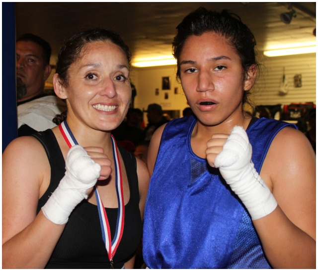 Bout #2 featured the ladies, 34 year-old Andrea Iniguez of the Alliance Training Center, Chula Vista (123.6 pounds) going up against the 17 year-old, southpaw Felicia Soria from the Soldiers of God Boxing program, Fontana (123.6 pounds).