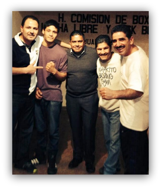"""In this photo we see Victor """"Sina"""" Fonseca with his support group of (l to r)"""