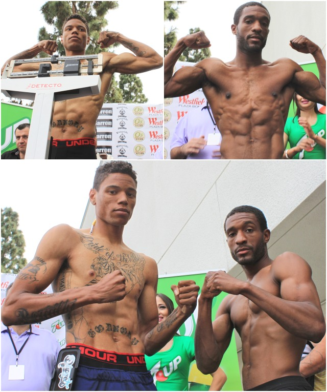 "(bottom) On the undercard, in Bout #5, they have Prince Tiger"" Smalls (l) going up against Michael Haigood (r)."
