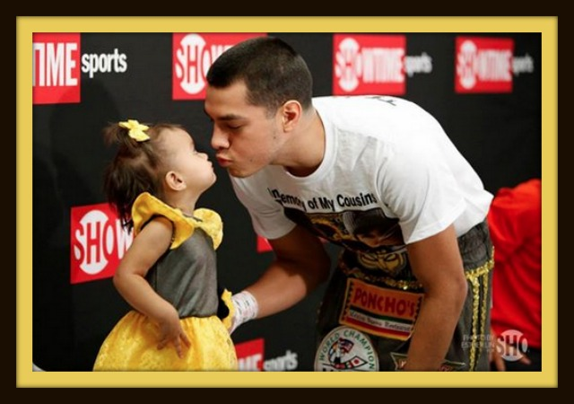 One of those priceless Father, Daughter moment for the World Champion Omar Figueroa Jr.