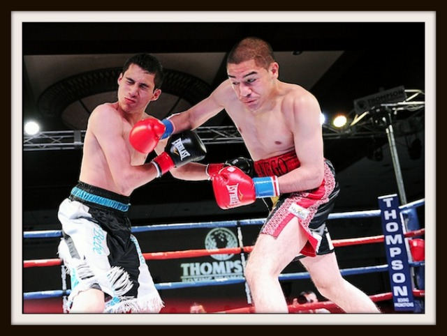 Fernando Samaniego (6-0-1, 3 KOs) of Phoenix and Francisco Camacho