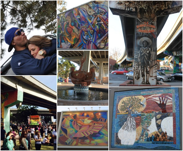 Photos, left were taken by the Klitschko family on Saturday, April 19 in Chicano Park. The rest of the photos were taken four days later on Wednesday, April 23, 2014.