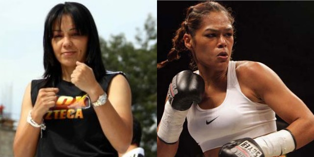 "Saturday night, May 24, 2014, it will be Jackie ""La Princesa Azteca"" Nava (l) taking on Alys ""La China"" Sanchez (r) at the Municipal Stadium in Tijuana for the Interim WBA Female Super Bantamweight Title."