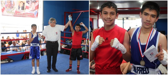 In Bout #10, it was 12 year-old Danny Martinez of the Grace Boxing Gym in Palmdale, CA (95 pounds) getting the best of 13 year-old Alfredo Vargas of Barrio Station, San Diego (95 pounds).