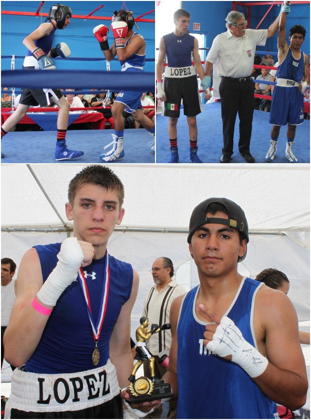 In Bout #12, it was 17 year-old Marco Sustaita of the Fanos Boxing Gym, Oceanside, CA (115 pounds) defeating 16 year-old Roberto Lopez of Team Garcia from the Broadway Gym in Los Angeles, CA (115 pounds).