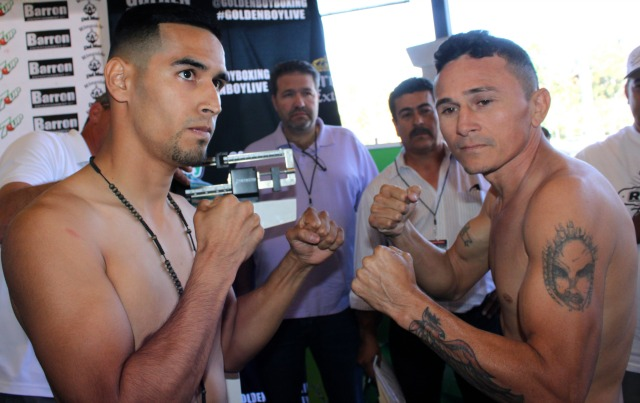 """a six-round bantamweight bout between Paramount'sManuel """"Suavecito"""" Romanand Merida'sJose """"Cacho"""" Silveira were then demoted to co-features."""