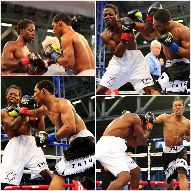 "In their junior middleweight battle, Elliot Seymour took a lot of punishment from Tevin ""Triggerman"" Watts."