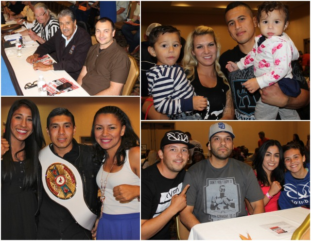 (top, right) Undefeated welterweight Adrian Vargas had this photo taken of his family - Adrian Vargas Jr., Dana, Anahi plus himself.