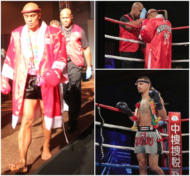 The combatants in Bout #2, Andrew Gabriel (red robe) and Michael Aviles make their ring entrance.
