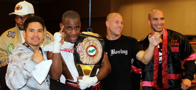 Chris with his support group at the Crowne Plaza in San Diego after the fight