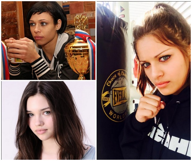 Since 18-year-old India Eisley (bottom, left) has been cast to play a young Angelina Jolie in the upcoming Disney movie Maleficent, we were advised to add her photo plus a photo of WCK Muay Thai Champion Lena Ovchynnikova of the Ukraine.