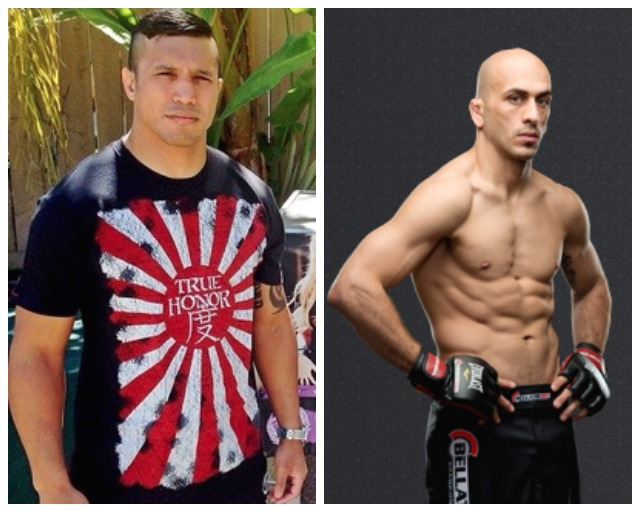 A lot can happen in three years. (left to right) We have MMA veterans Joe Duarte and Saad Awad.