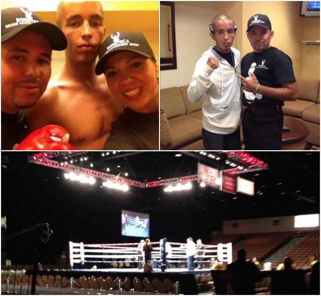 "(top, left) Prior to his bout against Timur ShailezovVictor ""El Pelon"" Ruiz"
