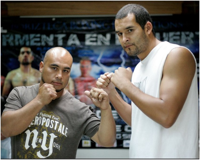 In Bout #4, it will be the big guy, Rafael Rios (r) of San Diego, taking on the little guy, Roman Borquez of Ensenada.