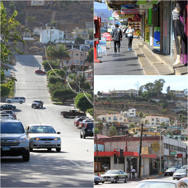 (photo, left) The hills surrounding the city of Ensenada kind of remind you of the hilly streets you see in San Francisco.
