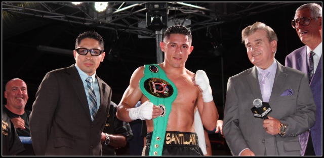 In this photo, we see Giovani San tillan after his big win over Osenohan Vazquez on August 16th in San Diego. saluting his family, mates from the boxing world, and his loyal backers and fans.
