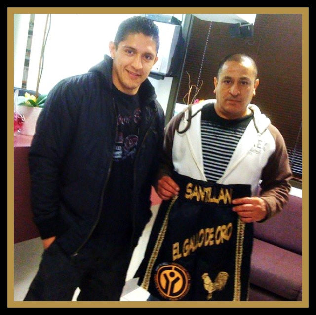 "Giovani Santillan with his father Guillermo ""Memo"" Santillan."