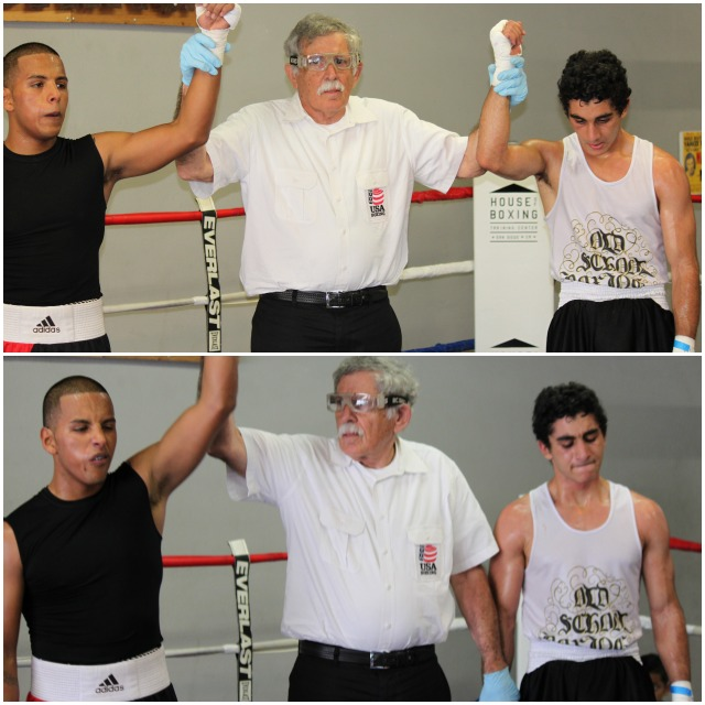 Bout #7, it was 23 year-old Armando Tovar from the House of Boxing going up against 18 year-old Ali Fakhreddine