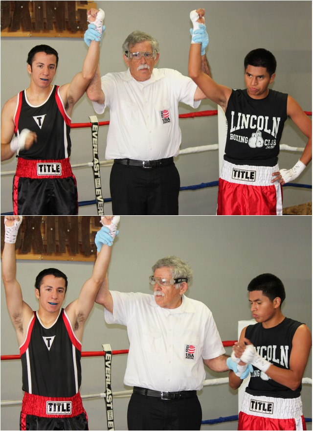 Jesus Pinon (r) felt he was a victim of an early referee stoppage.