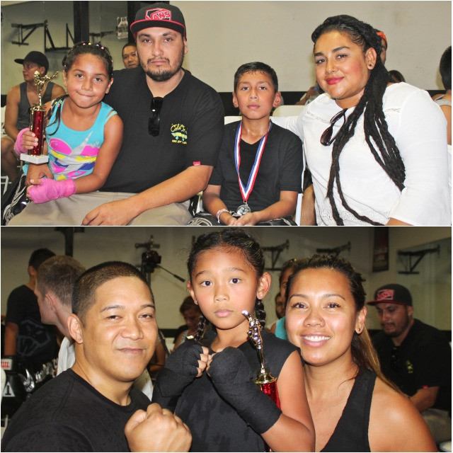 At the conclusion of their nonstop battle, referee Robert Aldama raises both Tiffany Ignacio's arm and Azul Medina's arm to signify the bout was declared a draw. Photos: Jim Wyatt