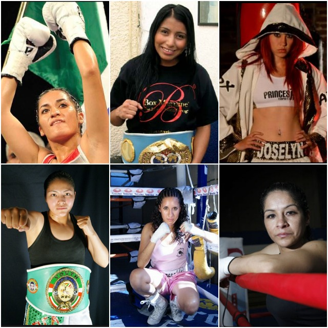 "The top female light flyweights in the world include, (top to bottom, left to right) Jessica Nery Plata, Kei Takenaka, Yesica Bopp, Susi Kentikian, Naoko Fujioka, Sindy Amador, Esmeralda Moreno, Jessica Chavez, Joselyn Arroyo, Ibeth Zamora Silva, Esmeralda Moreno and Maria ""Maggie"" Suarez."