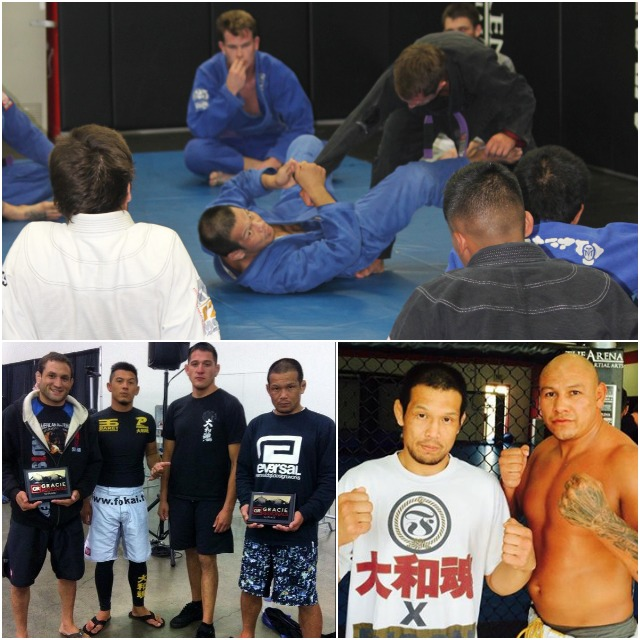 Day 2 of the Gracie Regionals when Baret Yoshida (r) and Sean Najjar (l) took first place in the No Gi.