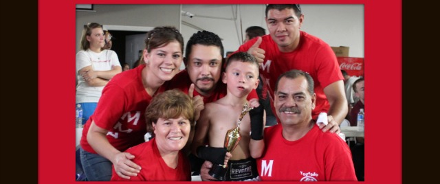 Canelito Kristian's  family and friends will soon need to look into chartering a bus for their young fighter's