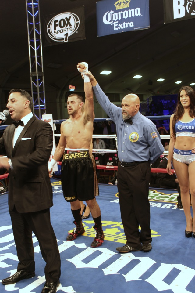 At the conclusion of their contest, it was Brian Nevarez earning an unanimous decision over Mario Angeles. Photo: J. Wyatt