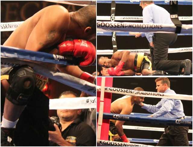 Bout #2 soon became one sided and Sir Marcus Browne had George Blades down on the canvas.
