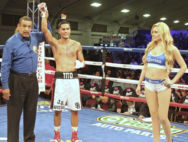 "After his big win in Bout #2, the gals seemed to be flocking around Jorge ""Tito"" Ruiz. Photo: J. Wyatt"