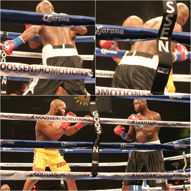 (photo, bottom) At the outset all they (Antonio Tarver (r) and Johnathan Banks (l) did was posture up