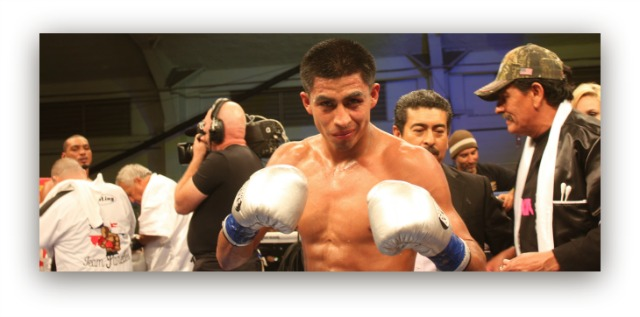 "It is now onward and upward for Alan Sanchez of Fairfield, CA after defeating Ed ""The Lion"" Paredes of Hollywood, Florida. Photo: Jim Wyatt"