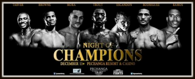 All set to perform on Thursday, December 11, 2014, at the Pechanga Resort & Casino in Temecula, CA, you have 26 boxers.