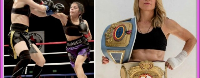 "The rematch: On January 9, 2015, San Diego's Jolene Blackshear (r) will once again face Maria ""Maggie"" Suarez who almost shut Blackshear out back on December 6, 2013."