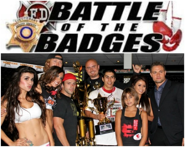 Others who will miss Mr. Burni: the organizers of Battle of the Badges plus (bottom, right) Jason Stewart, the CEO of Epic Fighting.