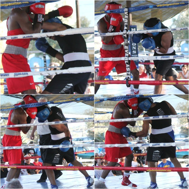 Before long, Armando Tovar made the proper adjustments and like the use of this left uppercut, Nova found himself in  tough scrap.