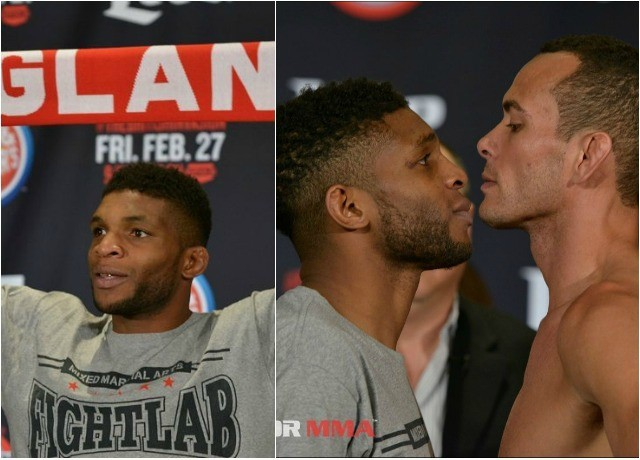 (r to l) Paul Daley (171 lbs.) vs. Andre Santos (171 lbs.)