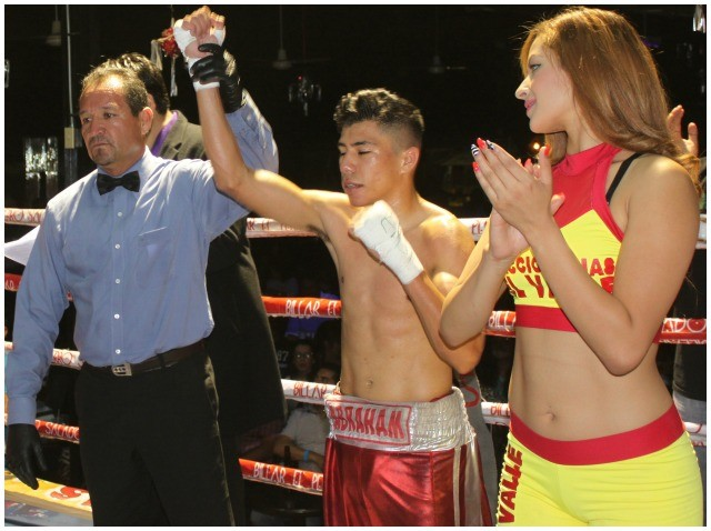 "Abraham ""Choko"" Rodriguez (12-0, 6 KOs) earning an impressive victory with a second round TKO of Cristian Quezada (0-8 with 6 losses by TKO)."