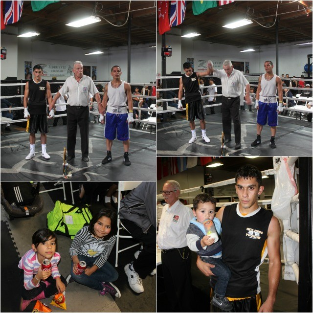 In the photo (top, right), we see Robert Lopez having his arm raised in victory by referee Rick Ley. (photos bottom) These photos prove conclusively that boxing fans c