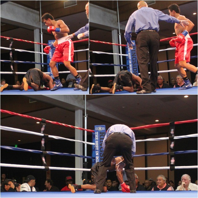 The quickest bout of the night saw Ngoc Truong land the perfect punch on the hard charging Miguelito Marti and down he went.