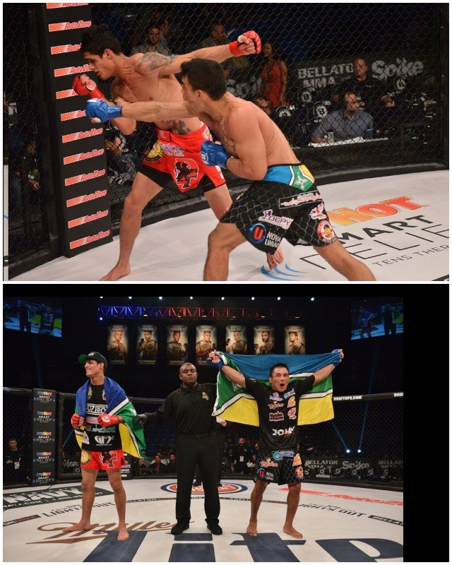 "In the opening bout of the evening, John ""Macapa"" Teixeira (18-1-2) defeated Fabricio Guerreiro (20-4) via split decision"
