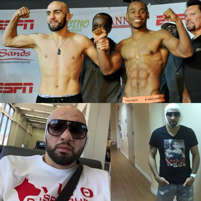 After everything was so hunky-dory at the weigh-ins, that all changed after Vito Yasparyan's injury. Photo (bottom right) shows our warrior post surgery at the Glendale Adventist Medical Center.