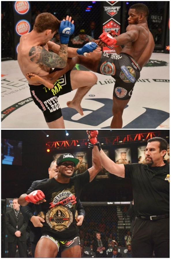 In the Main Event, Bout #9, it was Will Brooks (16-1) defending his 155 pound title against Dave Jansen (20-3). Brooks won by an unanimous decision with all three judges scoring the bout 49-46 for Brooks. John McCarthy refereed the match.