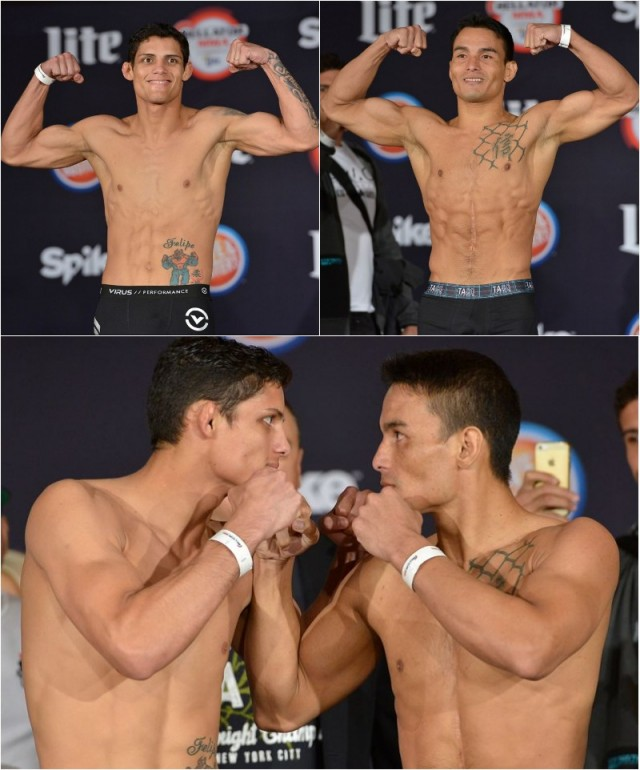 Weigh-in results: Fabricio Guerreiro (145.8 pounds) vs. John Teixeira (145.2 pounds)