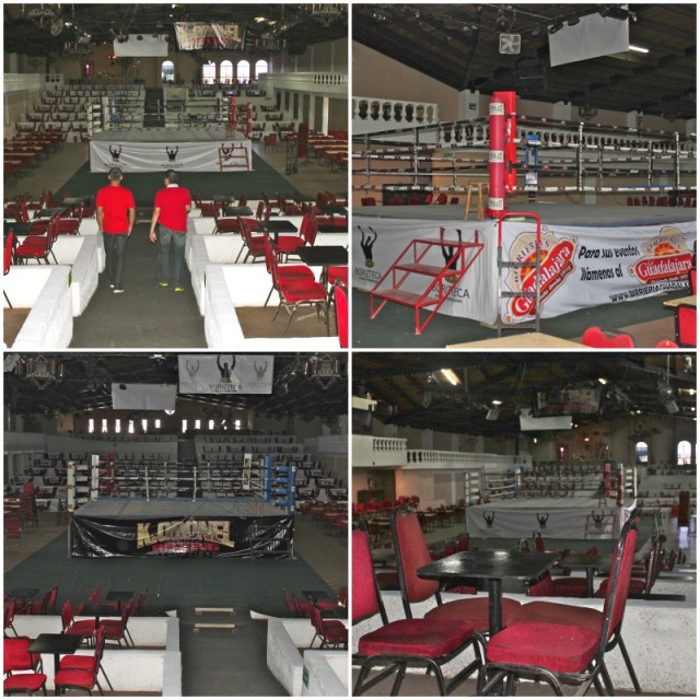 On Thursday, the Salon Casablanca was dark and oh so quiet. That will al change on Friday evening when the raucus boxing fans show up.