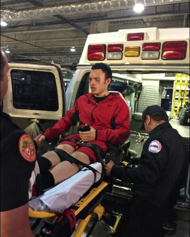 At the conclusion of his bout with Fonfara, it was off to the local hospital for some tests for  Julio Cesar Chavez Jr.