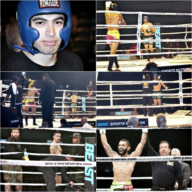 (top, left) Alex Trinidad from The Arena gym. (bottom right) the winner Antonio Arango of the Valor Fight Club of Logan Heights.